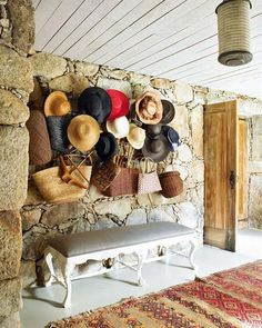 Hats and bags. love