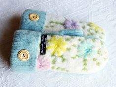 recycled sweater mittens by miraclemittens on Etsy