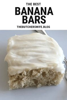 The BEST Banana Bars you will ever eat! Sweet, soft, fluffy banana cake with cream cheese frosting. so delicious! The BEST Banana Bars you will ever eat! Sweet, soft, fluffy banana cake with cream cheese frosting. so delicious! Smores Dessert, Dessert Bars, Dessert Bread, Banana Bread Brownies, Banana Bars, Banana Bread Cookies, Cake Cookies, Banana Dessert Recipes, Banana Bread Recipes