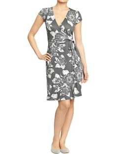 Loving gray right now...Old Navy | Women's Wrap-Front Jersey Dresses