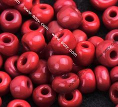 Deep Red 4mm Opaque Glass Tube Lamp Work Loose Seed Beads Fit Making Jewelry