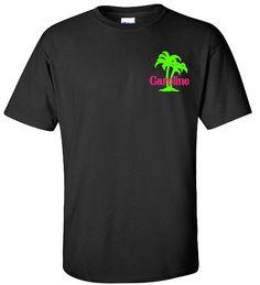 Palm Tree Monogram Shirt Personalized Palm Tree by VinylDezignz, $19.95