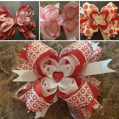 Valentines Bows for your little ones Or check out my page for great present ideas