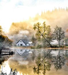 Misty Mirror, Loch Ard, Scotland, September 2013
