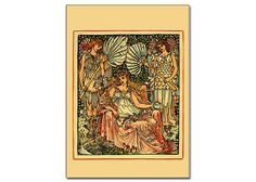 card,printables,walter crane,card series 1,vintage