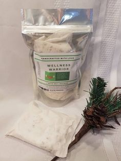 Easy clean bath salt gift for him, sore muscle, cold flu soak, sinus congestion, men, Wellness Warrior Bath Tea, aromatherapy