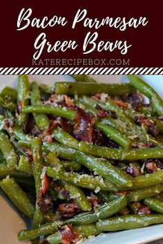 parmesan recipe bacon green beans kates box Bacon Parmesan Green Beans Kates Recipe BoxYou can find Fresh green bean recipes and more on our website Bacon Recipes, Veggie Recipes, Cooking Recipes, Healthy Recipes, Frozen Vegetable Recipes, Cooking Bacon, Parmesan Green Beans, Green Beans With Bacon, Sauteed Green Beans