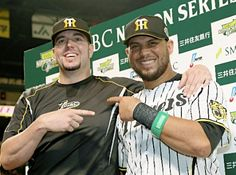 Randy Messenger and Mauro Gomez (Hanshin Tigers)