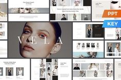 cool Vela Presentation Template  CreativeWork247 - Fonts, Graphics, Themes,...