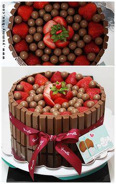 gâteau kit kat miam sa l'air trop bon