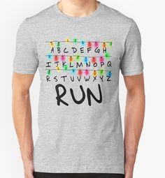 """Camiseta Stranger Things """"Run"""""""