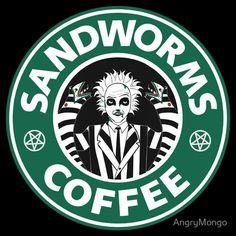 When Beetlejuice mets Starbucks. Tim Burton Kunst, Tim Burton Art, Tim Burton Films, Burton Burton, Disney Starbucks, Starbucks Logo, Starbucks Coffee, Beetlejuice Halloween, Halloween 2