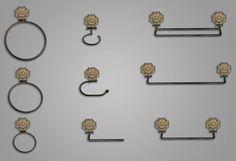Accesorios de baño en forja modelo Rosetón Fundición - LEGUA ARTESANOS S L