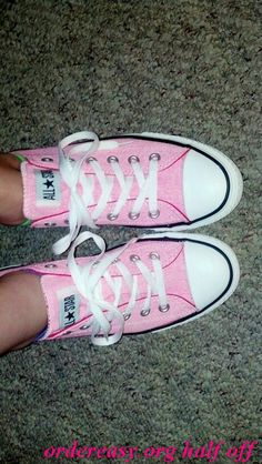 Pink Chucks with studs on back ? Seriously am thinking about these! Maybe not with studs, but looveee     Fashion pink #converses #sneakers summer 2014