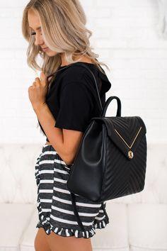 Let s Go Shopping Backpack Purse (Black) Cute Headbands a7b1dc4ae13f3