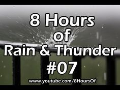 8 Hours of relaxing morning rain and thunder. If you listen to this during sleep or meditation you will feel peaceful and calm. Great for tinnitus, meditation, yoga, when you study, go to sleep, have insomnia or have sleep deprivation.  Please like, subscribe and comment if you enjoyed this video. It will really help me out a lot. :)  http://www.youtube.com/subscription_center?add_user=8hoursof