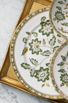 0645aa089a4f Royal Crown Derby s Derby Panel Green pattern is a beautifully traditional  design featuring tranquil flowers and