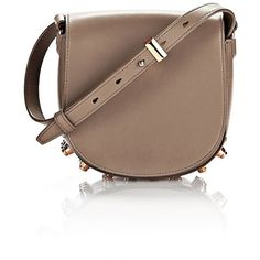 Alexander Wang Shoulder Bag ($650) ❤ liked on Polyvore featuring bags, handbags, shoulder bags, hazel, studded crossbody purse, brown handbags, mini shoulder bag, mini crossbody handbags and brown cross body purse