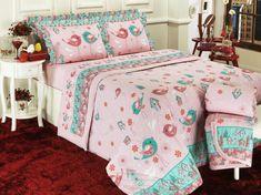 Edredom Solteiro 150 fios - Piby Rosa - Dui Design | Vida e Cor