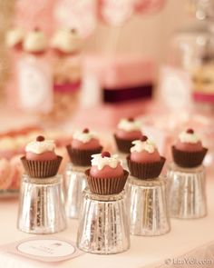 Delicate desserts~ #adorable #cute #yummy #dessert #cupcakes #mini #food #foodie #yummy #yum #delicious #icing #cupcakes #chocolate