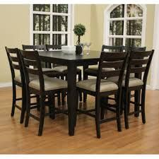American Heritage Este 9 Piece Counter Height Dining Set w/ Salma Stools in Black