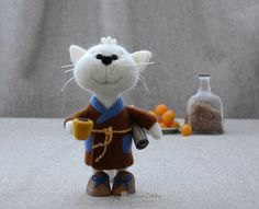 Needle felted cat, MADE TO ORDER,  Needle felted animal, Home decor,  Soft sculpture, Fiber art, Gift