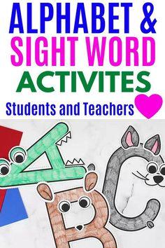 Preschool Projects, Preschool Letters, Preschool Kindergarten, Kindergarten Activities, Sight Word Activities, Preschool Learning Activities, Fun Learning, Preschool Programs, Sight Words