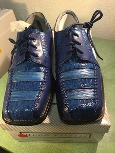 bcbf862ba028 Hugo Vitelli Boys  New Two Tone Royal Blue Dress Shoes K182RYL - See Photos