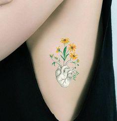 #Accessories #Floral #Heart #Temporary #Tattoo #Anatomy #Art #Real #Human #Biology #Fake Sunflower Shoulder Wrist Neck Body Science Fantasy Unusual Love Gift Tiny Ethnic #Tribal #Oddity Strange Goth Freak #Taxidermy #Couple #Wedding #Doctor #Nurse
