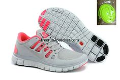buy cheap  Pas Cher Nike Free Run+ 4 Femmes Cool Gris Hot mignardise,top quality onsale just: $36.99