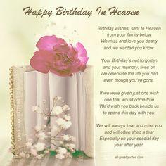 Happy Birthday in Heaven Memorials | Free Birthday Cards For ... via Relatably.com
