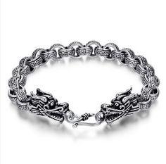Мужчины браслет 100% чистый 925 браслет серебро 925 ювелирные изделия мужчины тайский серебро браслет для мужчины дракон H69