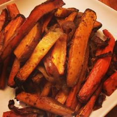 I Don't Go to the Gym: Balsamic & Pineapple Glazed Sweet Potatoes & Carrots