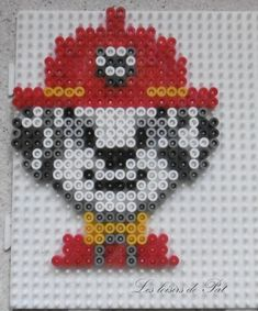 Pearl # to Perler Bead Templates, Pearler Bead Patterns, Perler Patterns, Disney Ornaments, Beaded Christmas Ornaments, Embroidery Patterns Free, Beading Patterns, Paw Patrol Marshall, Hama Beads Mario