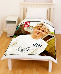 1D - One Direction Niall Horan Siggy Signature Up All Night Fleece Blanket #003