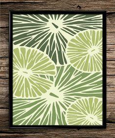 Citrus Limes | Modern Prints | Fruit Prints | Home Decor | Kitchen Decor | Printable Wall Art | Vintage Wall Art | Instant Download |