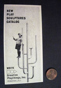Candelabra Shaped Playground Equip by Creative Playthings NJ 1960s Print Ad | eBay listing by vintagealliance