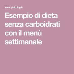 menu per una dieta senza carboidrati