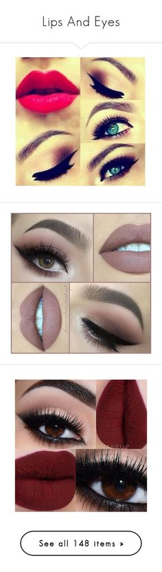 """""""Lips And Eyes"""" by sophia-pawz ❤ liked on Polyvore featuring beauty products, makeup, eye makeup, eyeshadow, beauty, eye shadow, eyes, eye make up, lips and глаза"""