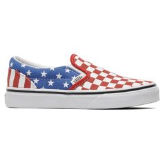 New Vans Classic Slip - On White Red Blue Unisex Shoes Trainers Low VZMRFP1    eBay