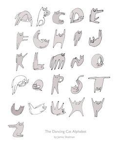 Cat Alphabet by jamieshelman