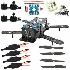 LHI 250mm Pro Pure Carbon Fiber Quadcopter Race Copter Frame Kit ARF + CC3D Flight Controller + MT2204 2300KV Motor + Simonk 12A ESC + 6030 CF Propeller Prop: Amazon.de: Spielzeug