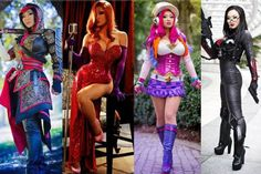 Some of the costumes created and worn by Cosplay queen Yaya Han