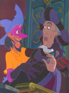 """Clopin and Frollo from Disney's """"The Hunchback of Notre Dame"""" - best narrator and worst villain. Both have fantastic songs. ...Both also have notably girly hands. Why? In the original """"Norte Dame de Paris,"""" Frollo is more likeable but Clopin is less so."""