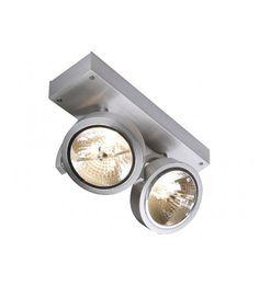 Grote spots aluminium 2 x QRB111