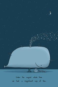 Magical Whale Tree 24x36 Limited Edition Art Print ($350) - Sebastien Millon / Art & Illustration