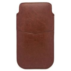 Amazon.com: uFashion3C [Wallet Card Slot Series] iPhone 6 Plus 5.5'' PU Leather Sleeve Pouch Case with Pull Tab (With Room for a Thin Case) -4 Colors- Retail Packaging (Brown): Cell Phones & Accessories