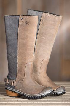 Women's Sorel Slimboot Waterproof Leather Boots by Overland Sheepskin Co. (style 50518)