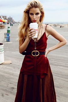 Coney Island Girl – Photographed for the December cover story of Elle Czech, model Linda Vojtova takes a trip to Coney Island in colorful images lensed by Branislav Simoncik.