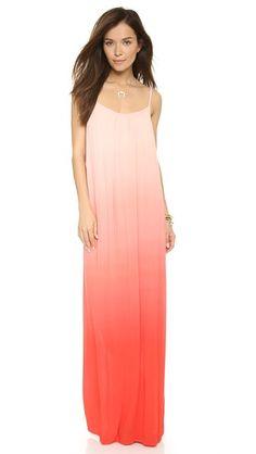 50% Splendid Gauzy Ombre Maxi Dress | #labordaysale | Shop and ship with Borderlinx